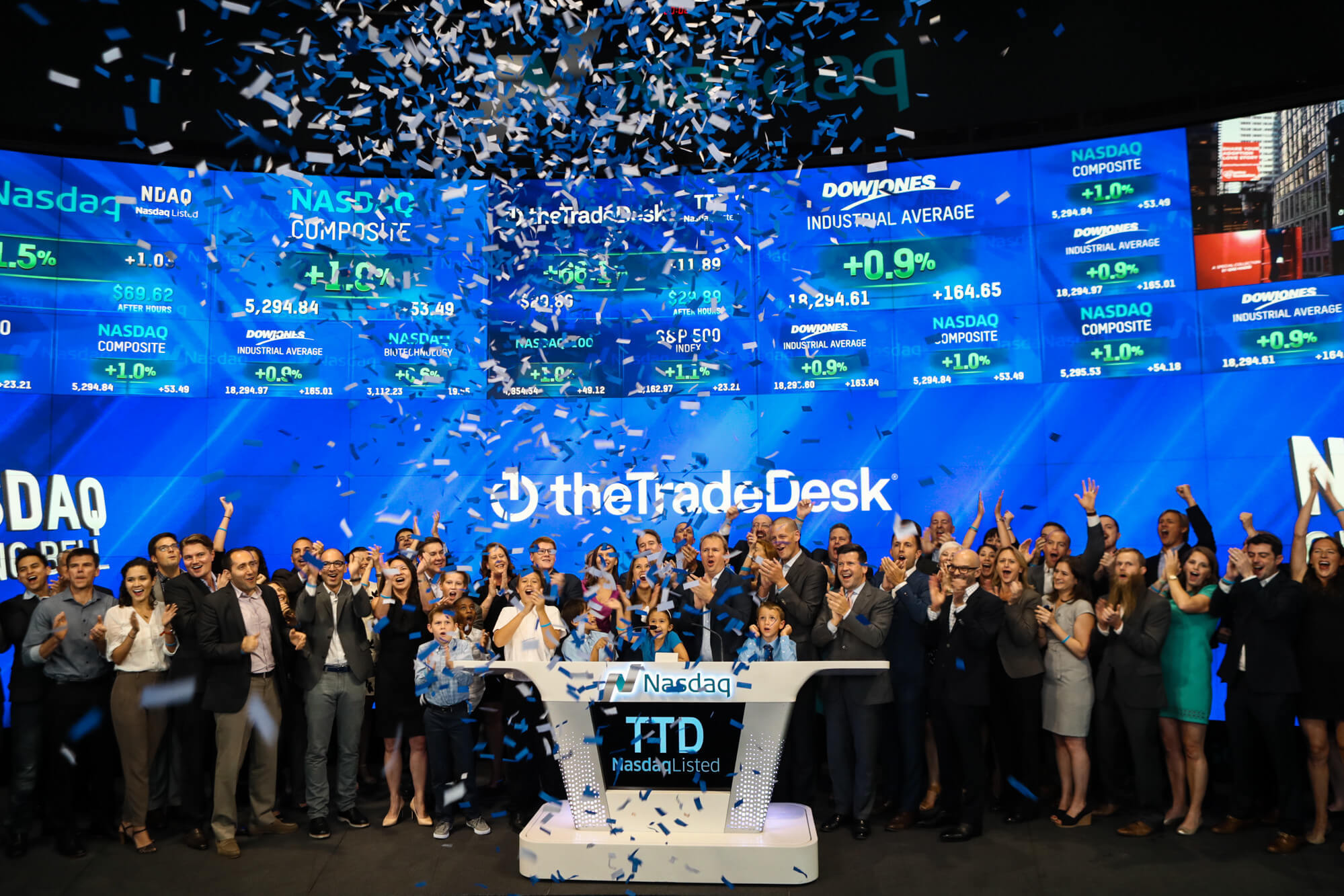 TradeDesk Rings the Nasdaq Bell